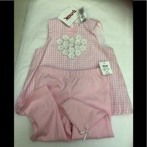 Infant 2pc Outfit Top and Pants Little Me 6mos NWT
